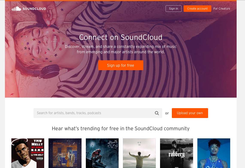 soundcloud公式サイト