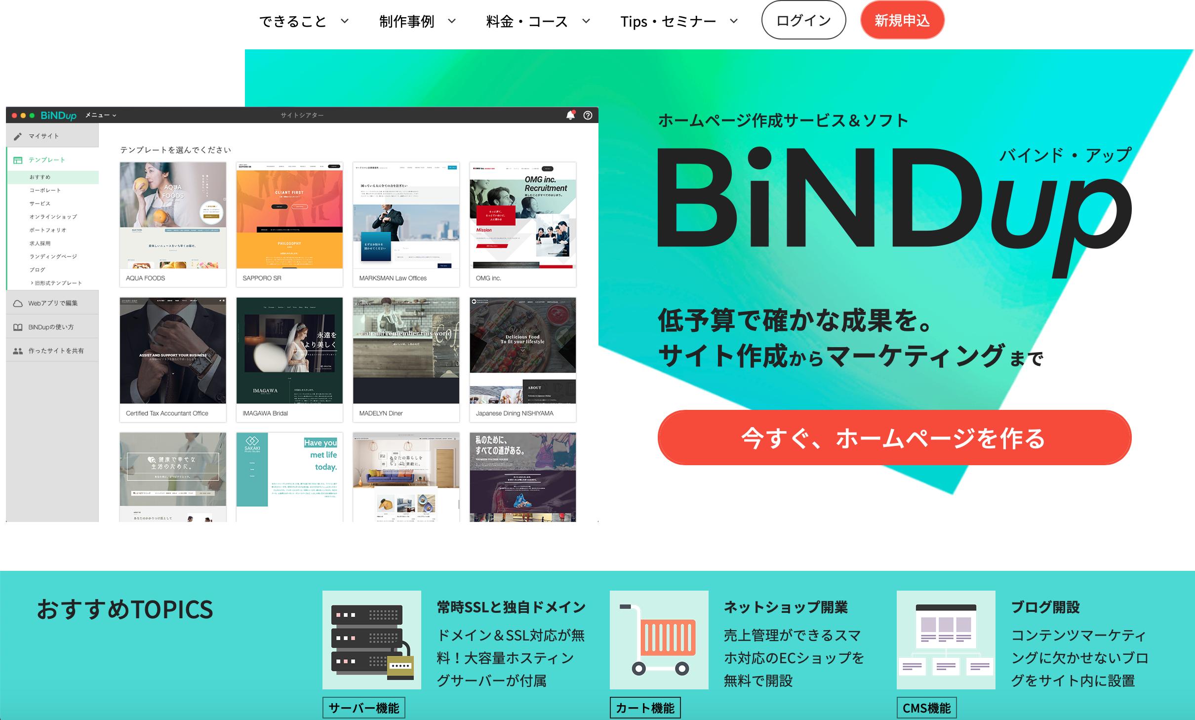 BiNDupサービスサイト