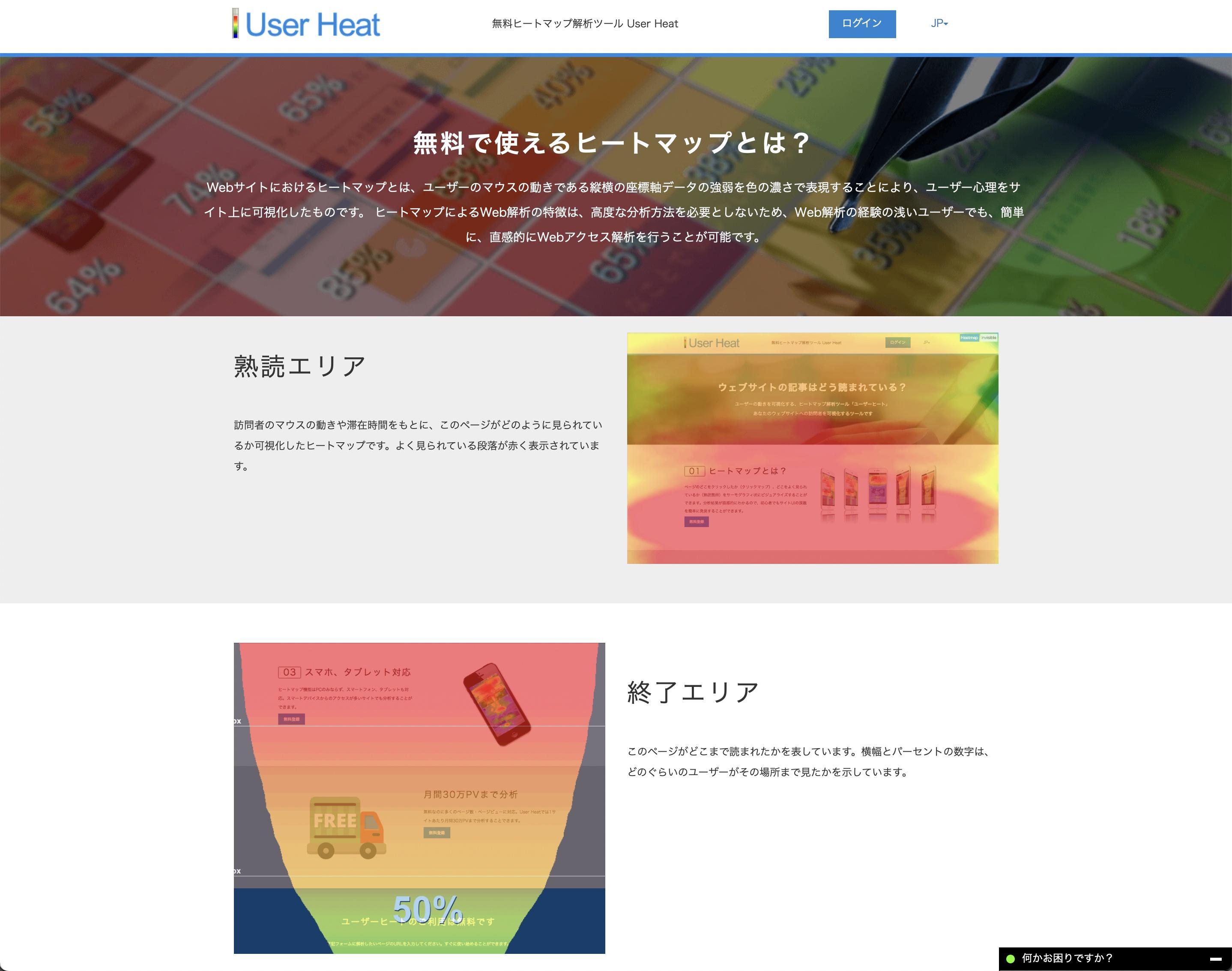 User Heat画面