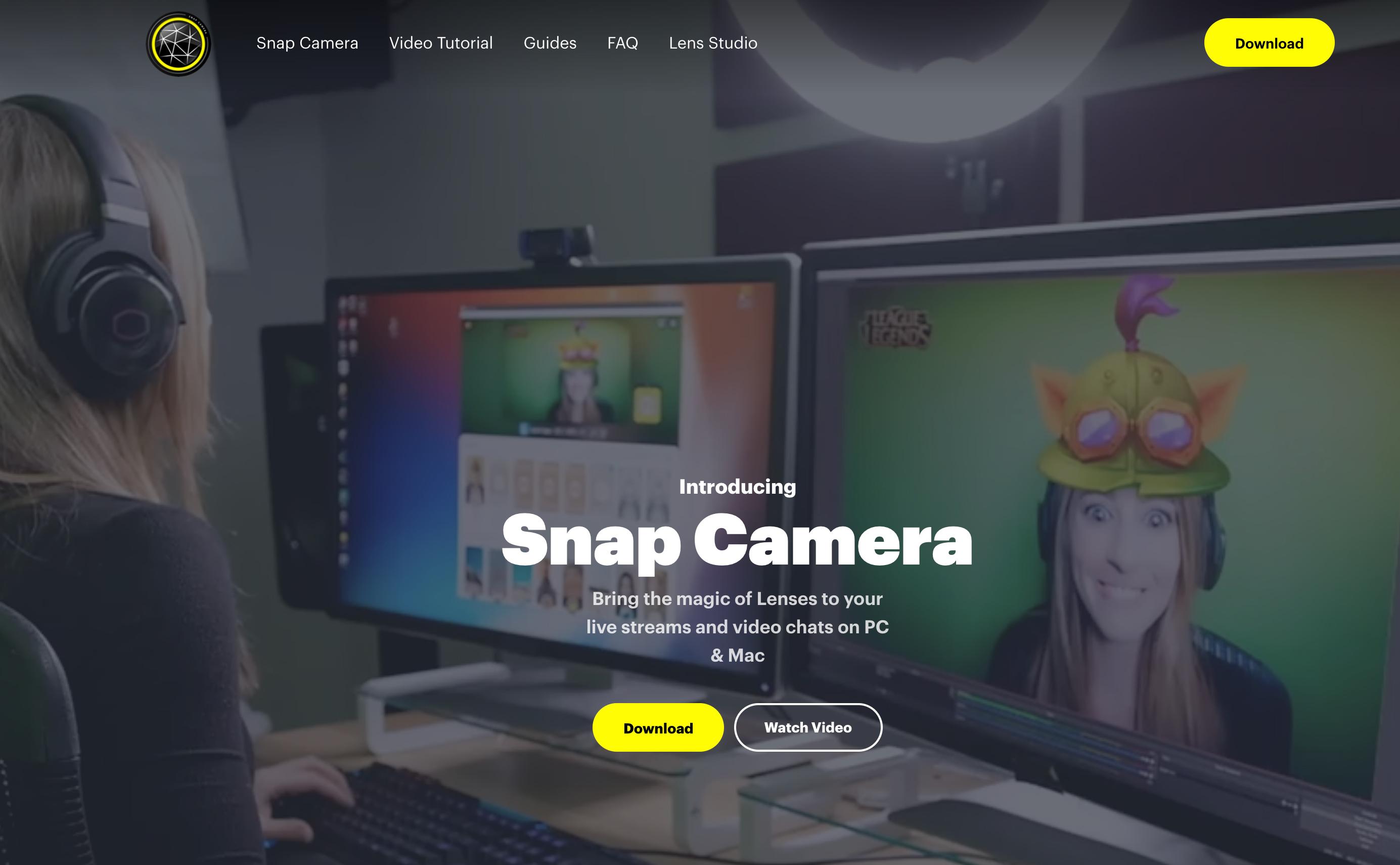 SnapCameraのホームページ