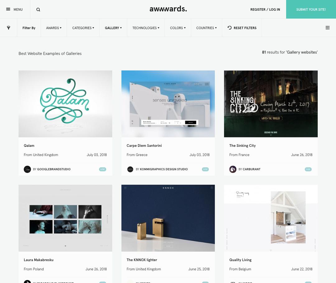 サイト作りに役立つ国内・海外の厳選デザインギャラリー