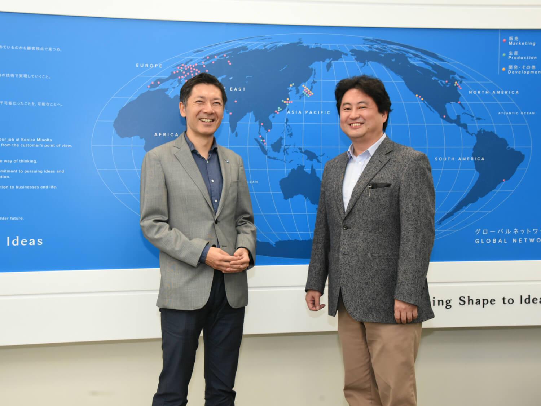 コニカミノルタ 臼井氏と、デジタルステージ 熊崎