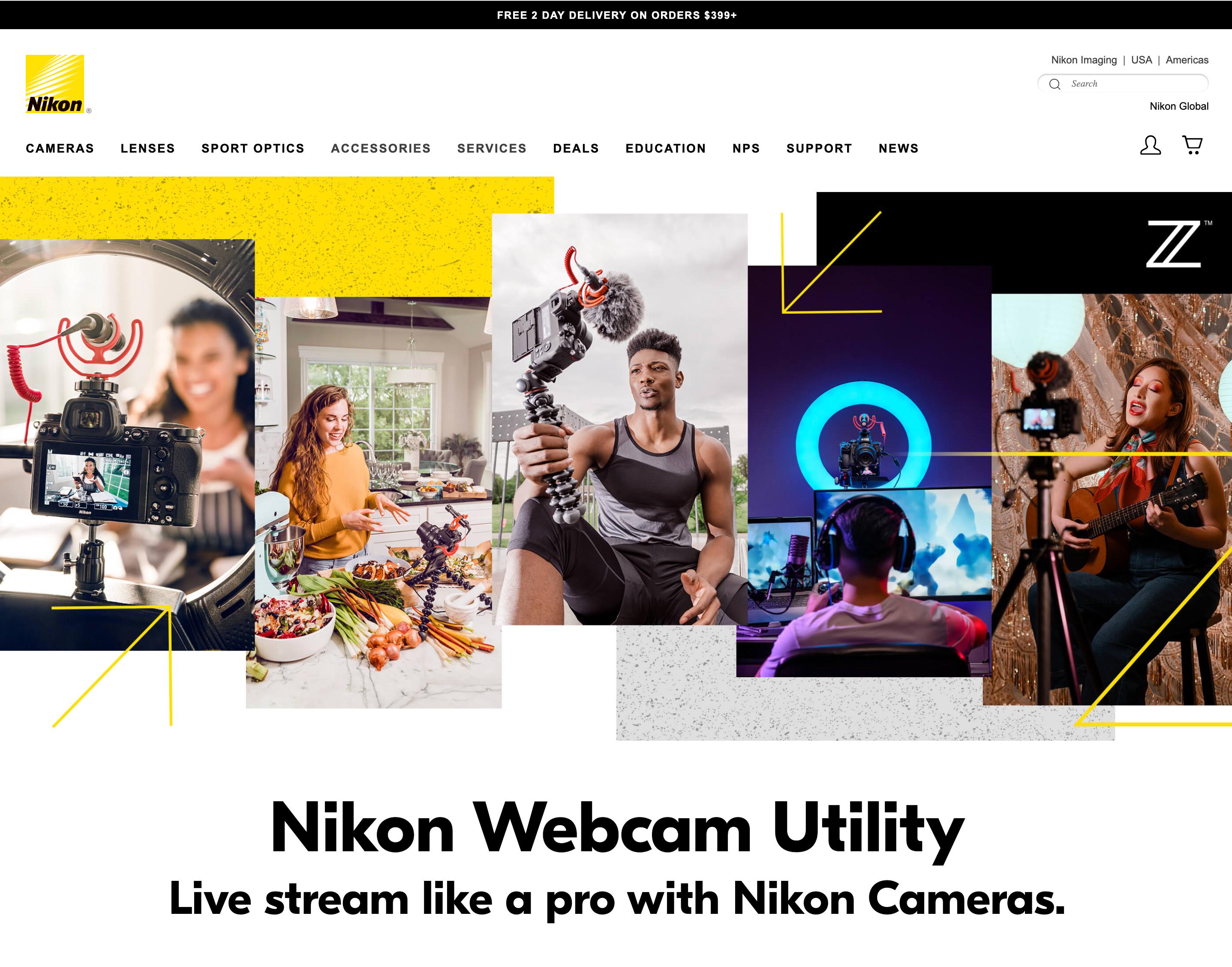 ニコンのウェブサイト